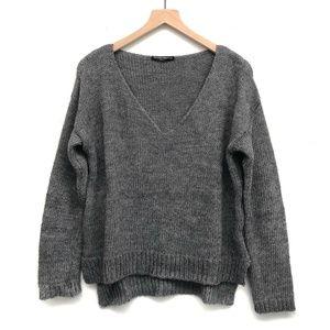 Brandy Melville Gray Knit Sweater - One Size